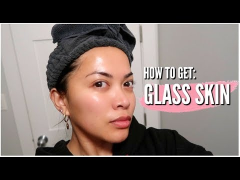 "HOW TO GET ""GLASS"" SKIN SKINCARE ROUTINE 