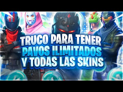 ¡CÓMO TENER TODAS LAS SKINS COMPRADAS Y TENER PAVOS ILIMITADOS EN FORTNITE! TRUCO 100% LEGAL SIN BAN