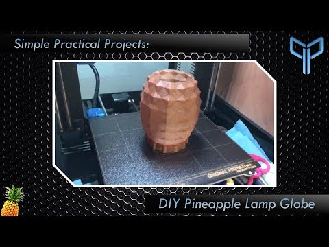 Simple Practical Projects: Pineapple Lamp Globe