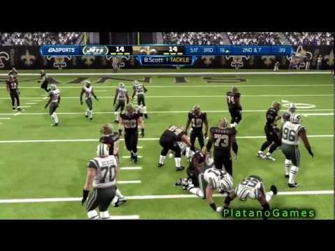 Madden NFL '13 - Online Multiplayer Game - New York Jets vs New Orleans Saints - 2nd + OT - HD