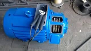 Крановый электродвигатель 4МТН225М8 30кВт 715об IM1004 испытание на холостом ходе