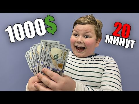 We gave A KID 20 MINUTES to spend 1000$ !