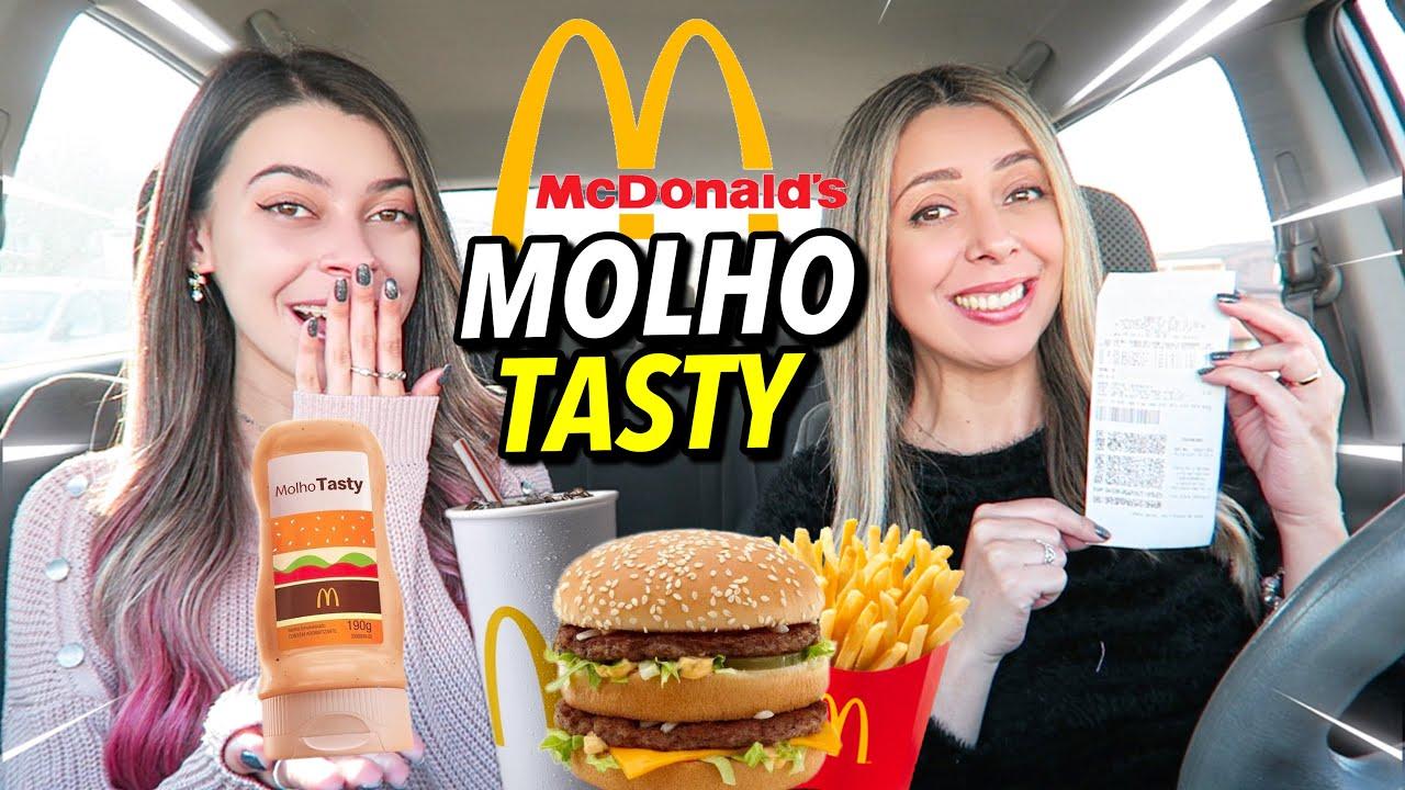 PROVANDO O COMBO + MOLHO TASTY  DO MC DONALD'S 🍔