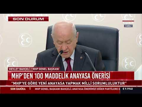 MHP Lideri Devlet Bahçeli, açıklama yapıyor #CANLI