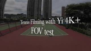 Tennis Filming with Yi 4K+ / Field of View Comparison Resize to 1080p.