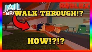 How To Walk Through Walls on Roblox Jailbreak