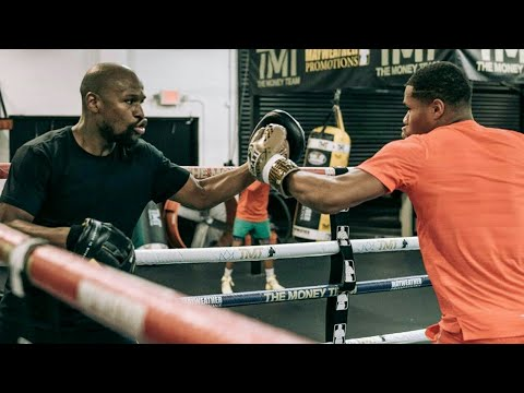 Floyd Mayweather Training & Holding Pads for Devin Haney
