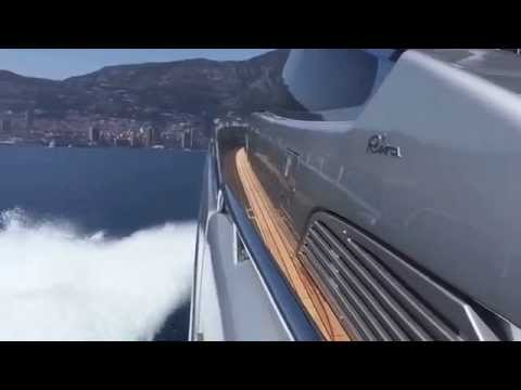 Cruising off Monaco with the new Riva 88 Florida luxury yacht