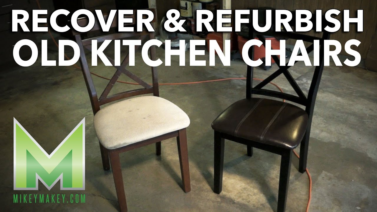 Refurbishing And Recovering Kitchen Chairs   Plus A Foray Into Stop Motion    YouTube
