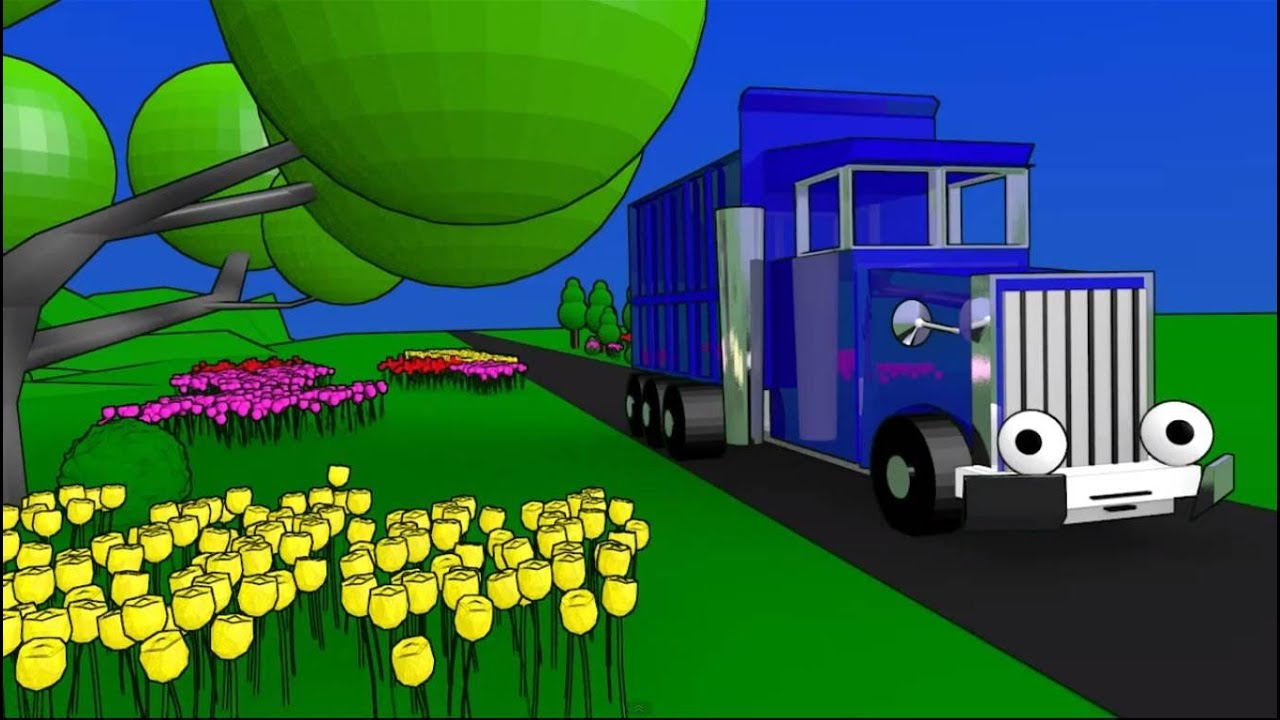 Learn Colors with Truck and Train - YouTube