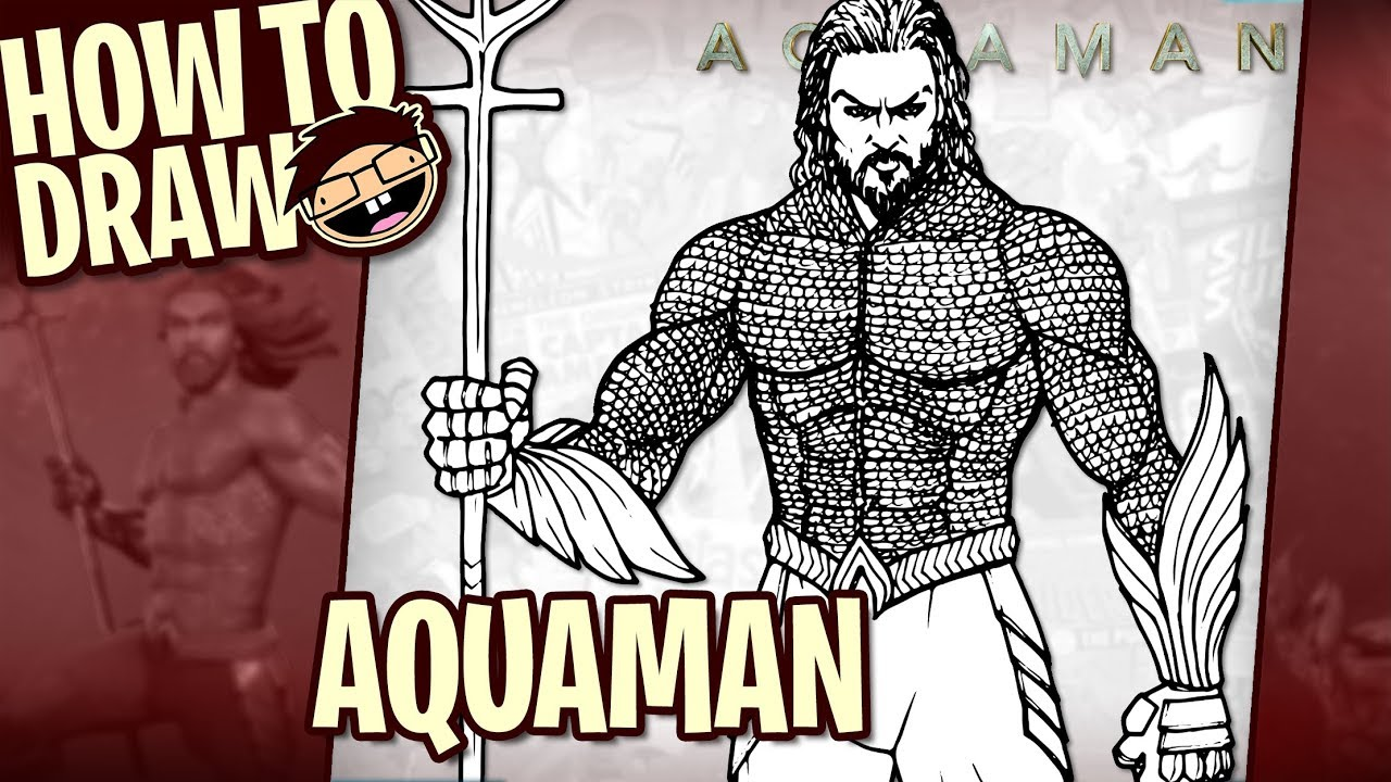 How To Draw Aquaman 2018 Movie Narrated Easy Step By