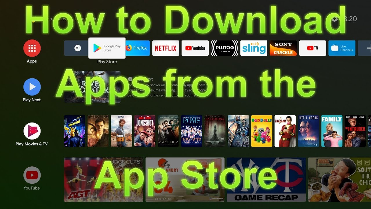 SkyStream Three Plus - How to Download apps from the App store