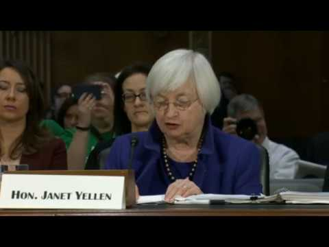 Yellen (Federal Reserve Chair) Testifies at Senate (14/2/2017) Live Stream