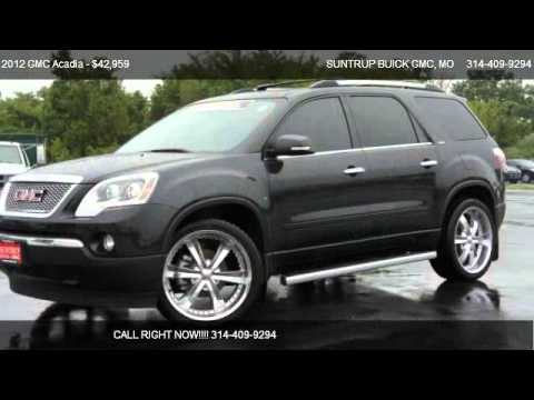 2012 gmc acadia slt 1 for sale in st peters mo 63376 youtube. Black Bedroom Furniture Sets. Home Design Ideas