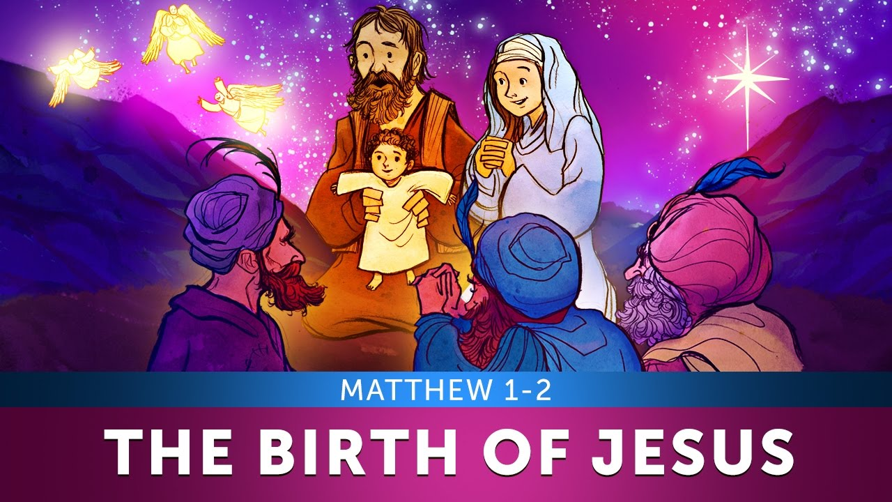 The Christmas Story for Kids - The Birth of Jesus Christmas Sunday School  Lesson - Matthew 1-2