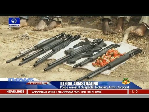 Police Arrest 8 Suspects, Including Army Corporal For Illegal Arms Dealing