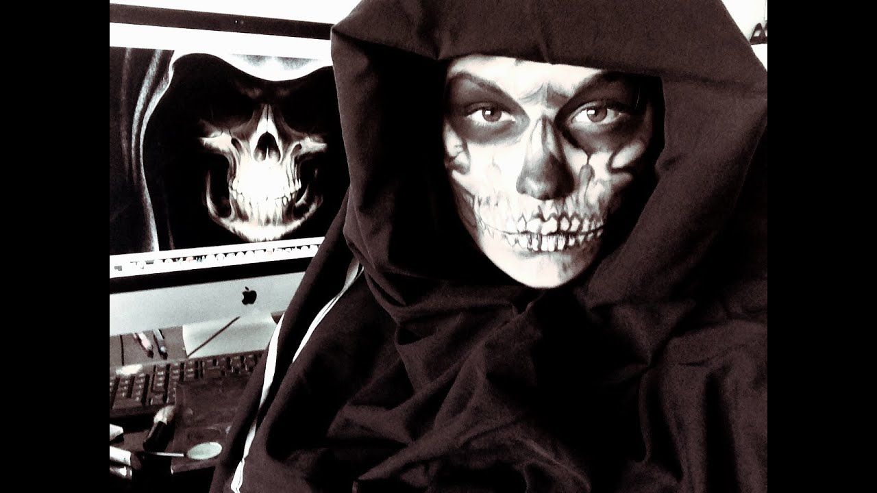Grim Reaper Face Paint Youtube