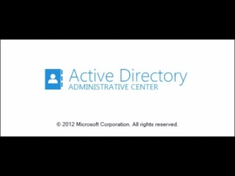 Active Directory Administrative Center  in windows server 2012 R2