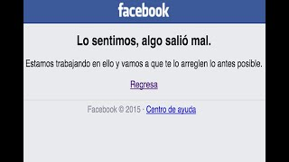 Facebook se cae... ¡otra vez!