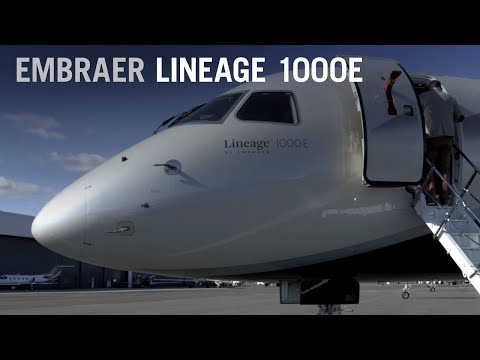 Flying to Las Vegas on the Embraer Lineage 1000 Business Jet – AINtv