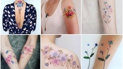 70+ Excellent Watercolor Flowers Tattoo Design Ideas