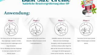 Bust Size Creme für mehr Brustvolumen(Bust Size ist eine bruststraffende und brustvergrößernde Creme aus natürlichen Inhaltsstoffen. Sie verleiht der Brust mehr Form und stärkt das Gewebe., 2017-01-07T10:40:47.000Z)