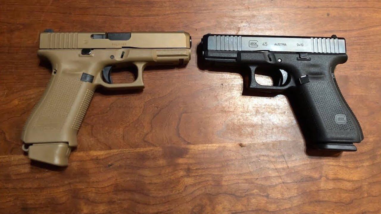 glock 45 vs glock 19x youtube