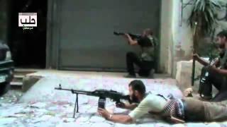 أبطال الجيش الحر في حي ميسلون أثناء اقتحام  مركز التدريب المهني ج1 18 9 2012