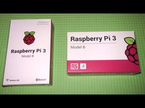 Сравнение Raspberry pi 3 Element 14 vs RS components