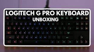 Logitech G pro  Keyboard Unboxing