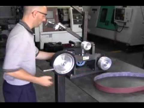 Kmg Belt Grinder From Beaumont Metal Works Inc Youtube