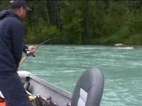 55lb King Salmon Fishing With Mark Glassmaker Alaska