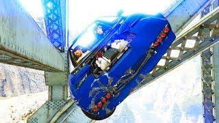 Mit dem Auto in der GTA Online Brücke feststecken!