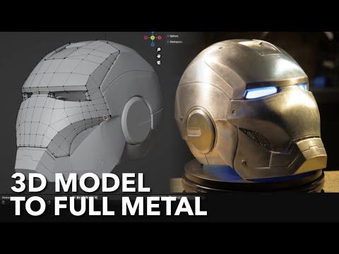 Building real Iron Man suit. #3 Iron Man helmet & Armor technologies. (3D printer and metal)