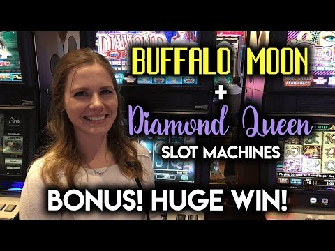 HUGE WIN! Diamond Queen Slot Machine! BONUS