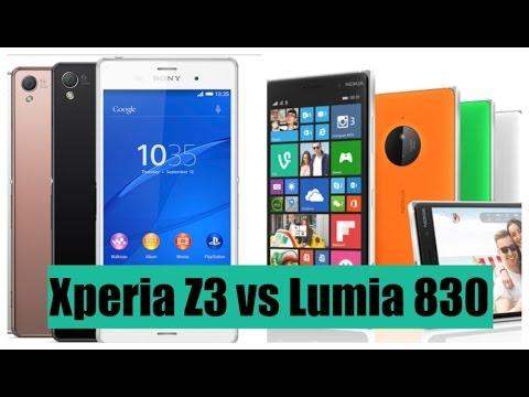 are happy nokia lumia 830 vs sony xperia z3 local