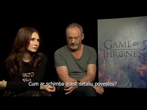 INTERVIU Carice van Houten i Liam Cunningham din Game of Thrones