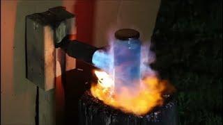 FORTNITE MINI SHIELD IN REAL LIFE VS FLAMETHROWER!