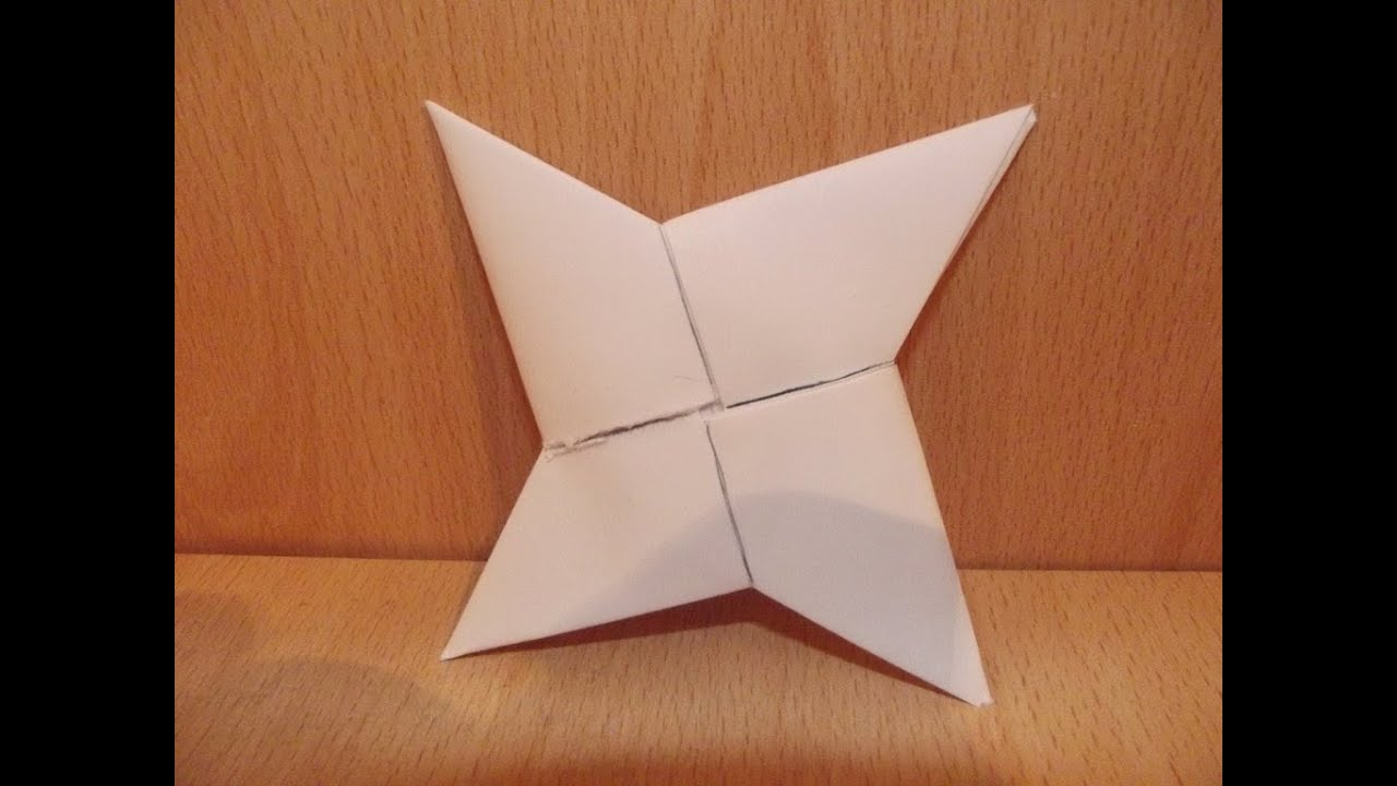 TUTORIAL:Kako napraviti origami suriken od papira - YouTube