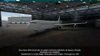Airline Commander Airbus 340 full flight/voo completo Rio de Janeiro p/ Curitiba