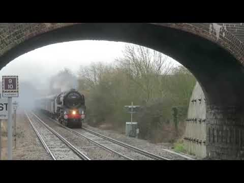 BR 70013 Powers the Cotswold Venturer past Honeybourne 10th Feb 18
