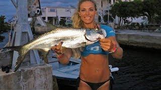 FISHING for Baby Tarpon in Backyard Florida Keys Honey Hole Video
