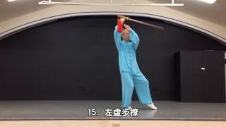 32式太極劍背向慢動作 (2013.09.08) 32 Form Tai Chi Sword Slow moving (Back View)
