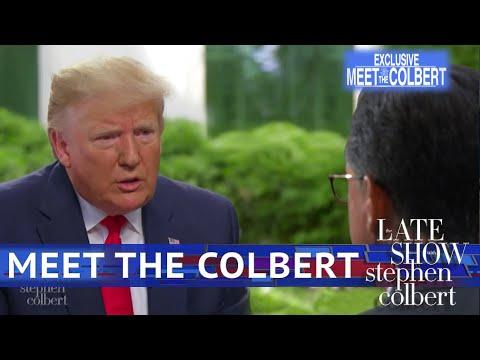 Stephen Colbert Hijacks Chuck Todd's Interview of 'Stone Cold Crazy' Donald Trump (Video)