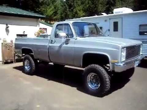 85 lifted chevy with flowmaster 44 series mufflers