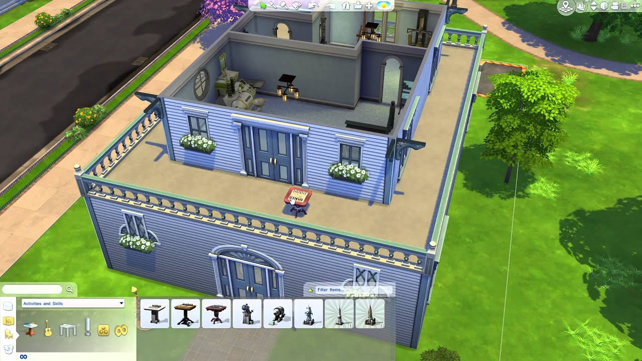 The Sims 4: Building a Home - Furnishing Skill Rooms ...