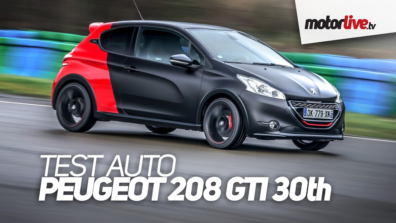 Test Auto Peugeot 208 Gti 2015 30th Youtube