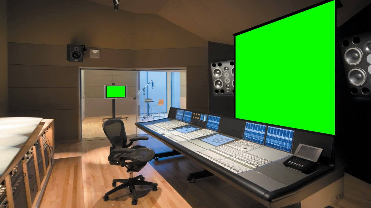Music Studio In Green Screen Free Stock Footage Youtube