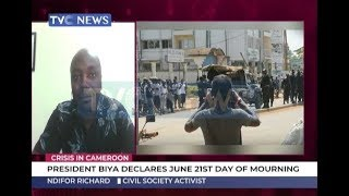 President Biya Declares June 21 A Day Of Mourning Over Crisis In Cameroon