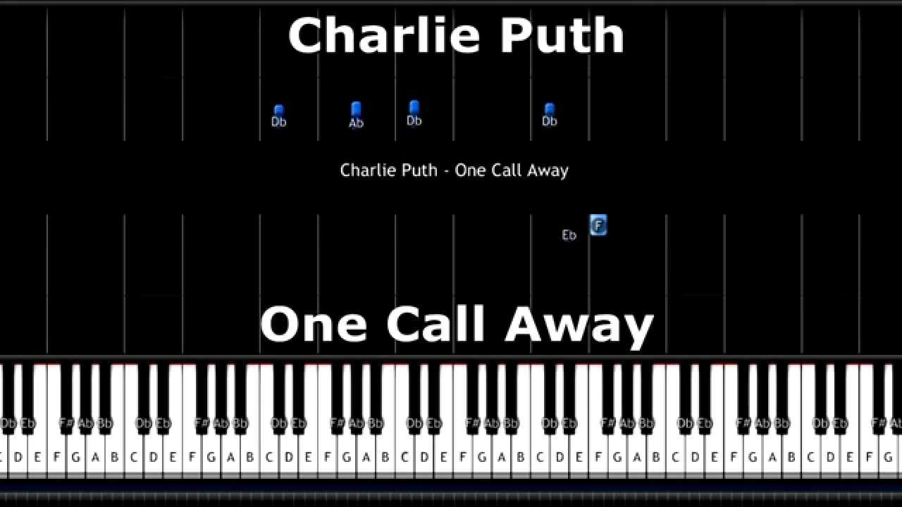 Charlie Puth - One Call Away (Piano Tutorial) Synthesia MIDI - YouTube